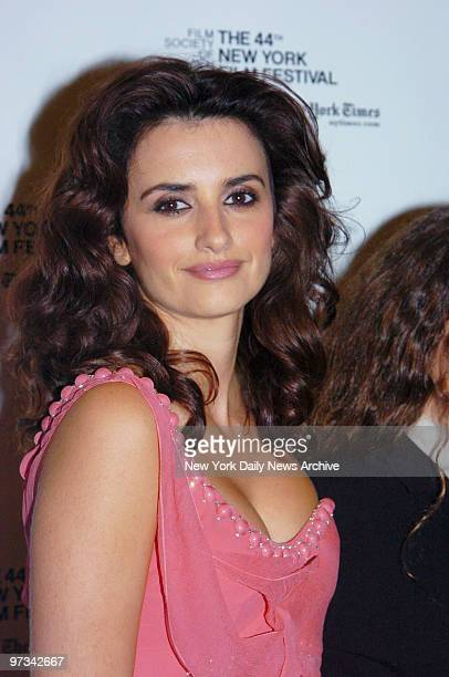 Penlope Cruz is at Alice Tully Hall for a screening of the movie Volver as part of the New York Film Festival presented by the Film Society of...