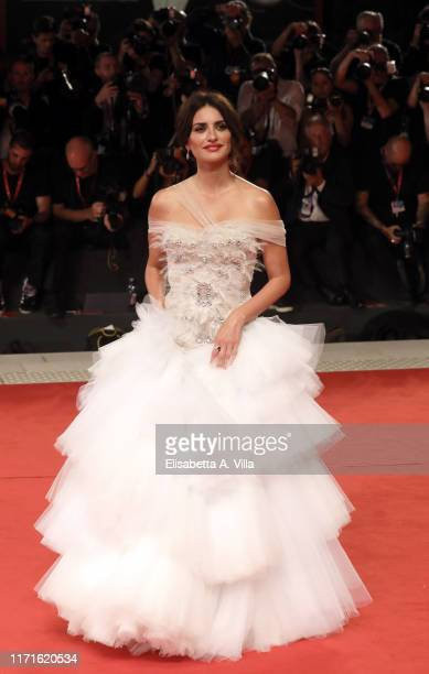 """Penélope Cruz walks the red carpet ahead of the """"Wasp Network"""" screening during the 76th Venice Film Festival at Sala Grande on September 01, 2019 in..."""