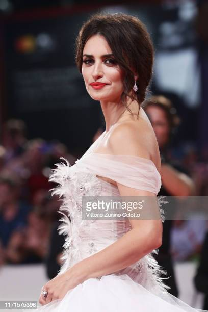 Penélope Cruz wearing Atelier Swarovski Fine Jewellery walks the red carpet ahead of the Wasp Network screening during the 76th Venice Film Festival...