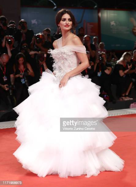 """Penélope Cruz, wearing Atelier Swarovski Fine Jewellery, walks the red carpet ahead of the """"Wasp Network"""" screening during the 76th Venice Film..."""