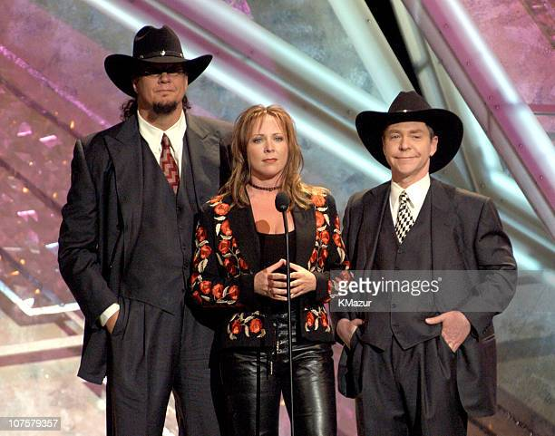 Penn and Teller with Karri Turner during 38th Annual Academy of Country Music Awards Show at Mandalay Bay Event Center in Las Vegas Nevada United...