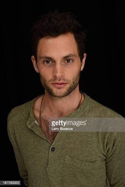 Penn Badgley actor in the film Greetings From Tim Buckley poses at the Tribeca Film Festival 2013 portrait studio on April 23 2013 in New York City