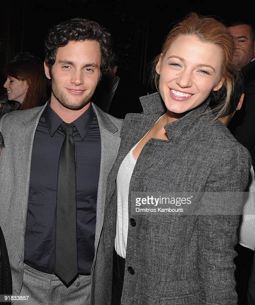 Penn Badgley and Blake Lively attend the after party for the premiere of The Stepfather at the Gramercy Park Hotel on October 12 2009 in New York City