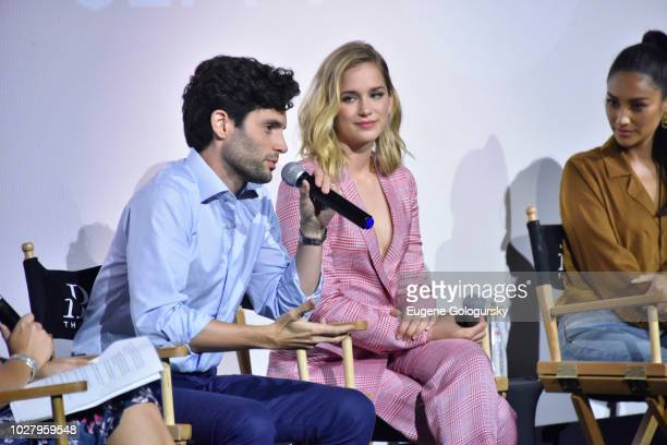 Penn Badgley and Elizabeth Lail attend the Screening Of Lifetime's You Series Premiere on September 5 2018 in New York City