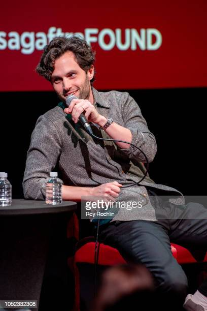 Penn Badgley discusses You during SAGAFTRA Foundation Conversations at The Robin Williams Center on October 16 2018 in New York City