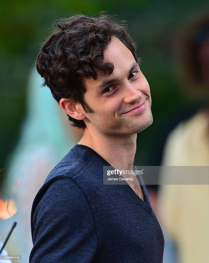 Penn Badgley filming on location for 'Gossip Girl' on August 28, 2012 in New York City.