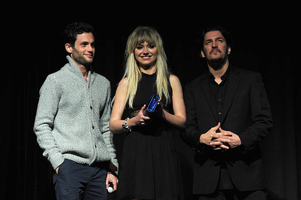 World premiere screening of greetings from tim buckley exclusively penn badgley imogen poots and frank bello attend the world premiere screening of greetings m4hsunfo