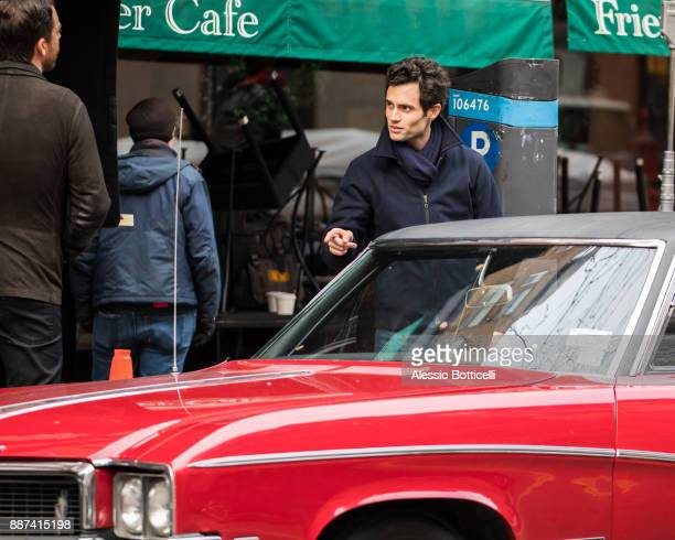Penn Badgley is seen filming 'You' on December 6 2017 in New York New York