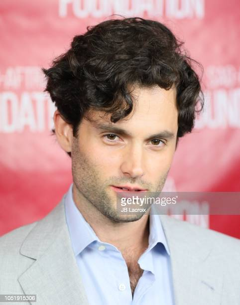 Penn Badgley poses for a photo during a SAGAFTRA Foundation Conversations Screening of You on October 11 2018 in Los Angeles California
