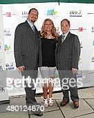 Penn Jilette 1067 Lite FM onair personality Delilah and Raymond Teller attend 1067 Lite FM's Broadway In Bryant Park 2015 held at Bryant Park on July...