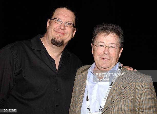 Penn Jillette and Bob Dowling during ShoWest 2005 The 24th Annual Hollywood Reporter Showmanship Awards at Paris Hotel in Las Vegas Nevada United...