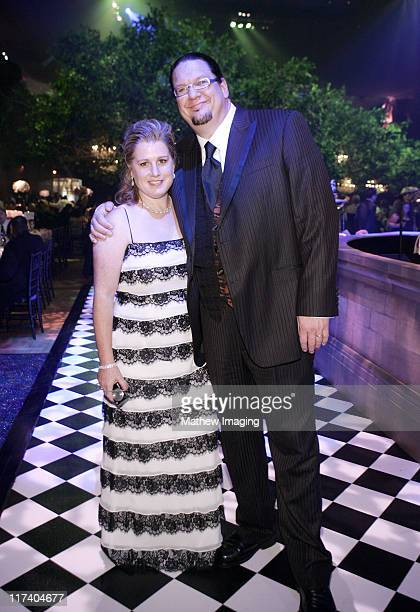 Penn Jillette and guest during 58th Annual Creative Arts Emmy Awards Governors Ball at The Shrine Auditorium in Los Angeles California United States