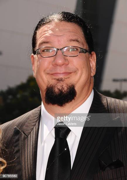 Penn Jillette attends the 2009 Creative Arts Emmy Awards at Nokia Theatre LA Live on September 12 2009 in Los Angeles California