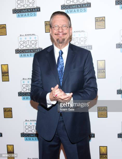 Penn Jillette attends the 2nd Annual Critic's Choice Documentary Awards on November 2 2017 in New York City
