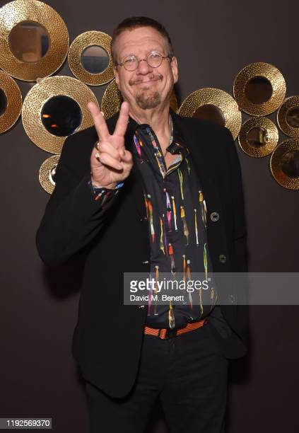 Penn Jillette attends the press night after party for Magic Goes Wrong at Proud Embankment on January 8 2020 in London England