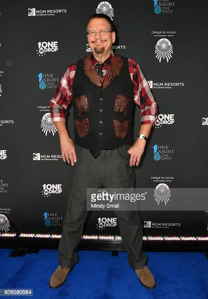 Penn Jillette attends the sixth annual One Night for One Drop imagined by Cirque du Soleil a show that raises awareness and funds for critical water...