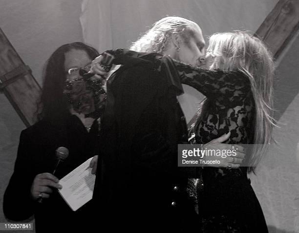 Penn Jillette Dee Snider and Suzette Snider during Dee and Suzette Snider's Vow Renewal by Penn Jillette Featuring Van Helsing's Curse at The Joint...