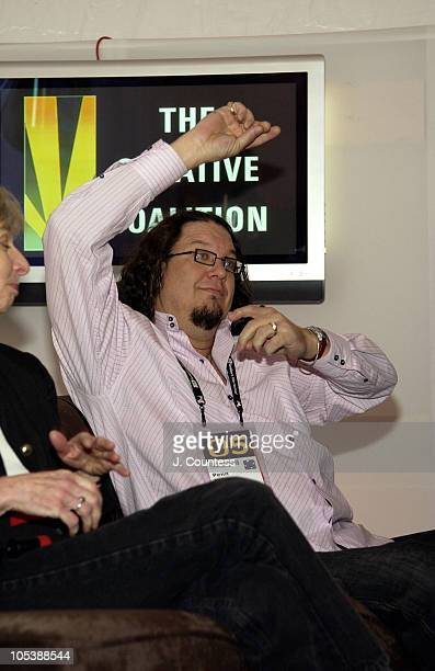 Penn Jillette during 2005 Sundance Film Festival Creative Coalition Panel at Village at the Lift Tent in Park City Utah United States