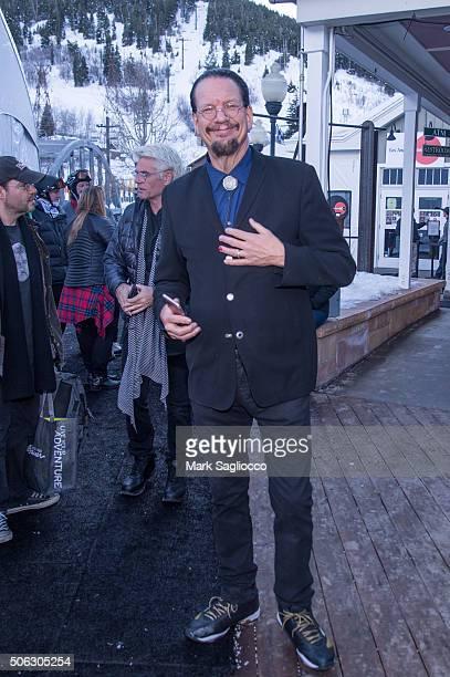 Penn Jillette is sighted at the Sundance Film Festival on January 22 2016 in Park City Utah