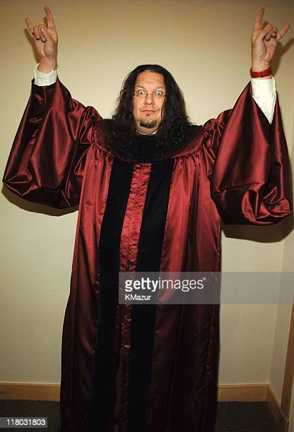 Penn Jillette of Penn and Teller during 2006 VH1 Rock Honors Backstage at Mandalay Bay Hotel and Casino in Las Vegas Nevada United States
