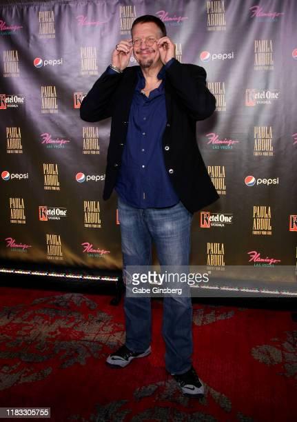 Penn Jillette of the comedy/magic team Penn Teller attends the official opening for the Paula Abdul Forever Your Girl Flamingo Las Vegas residency at...