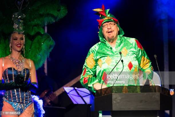Penn Jillette of the comedy/magic team Penn Teller presents the Casino Comedian of the Year Award at the Global Gaming Expo's seventh annual Casino...