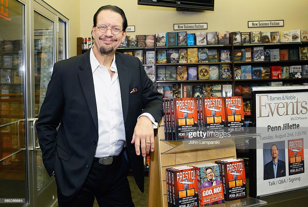 "Penn Jillette Signs Copies Of ""Presto: How I Made Over 100 Pounds Magically Disappear"""