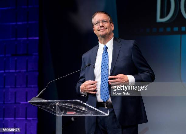 Penn Jillette speaks during the 2nd Annual Critic's Choice Documentary Awards on November 2 2017 in New York City