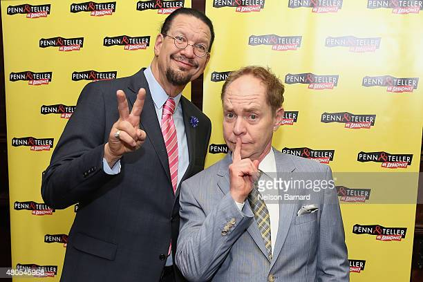 Penn Jillette Teller attend the Penn Teller On Broadway after party at Sardi's on July 12 2015 in New York City