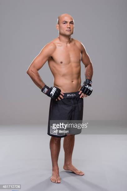 Penn poses for a portrait during a UFC photo session at the Mandalay Bay Convention Center on July 3 2014 in Las Vegas Nevada