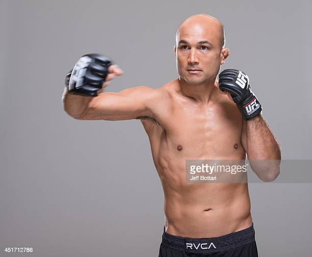 Penn poses for a portrait during a UFC photo session at the Mandalay Bay Convention Center on July 3, 2014 in Las Vegas, Nevada.