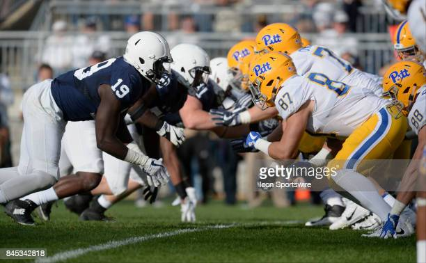 Penn State and Pitt fire off the ball at each other on the line of scrimmage. Penn State DE Torrence Brown and Pitt TE Chris Clark . The Penn State...