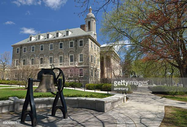 penn state campus with old main - state college stock photos and pictures
