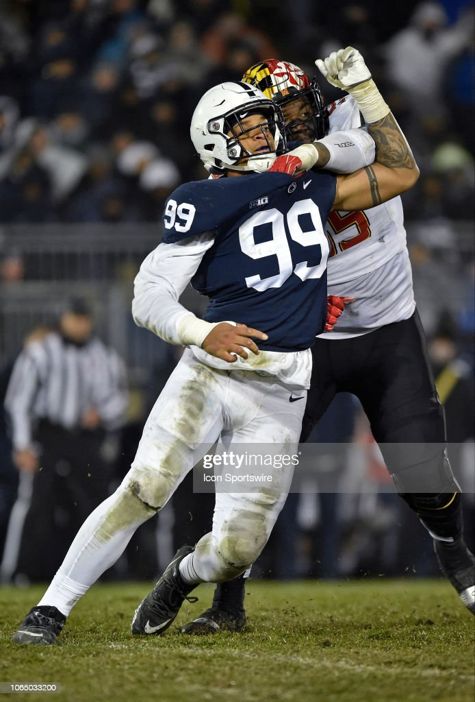 COLLEGE FOOTBALL: NOV 24 Maryland at Penn State : News Photo