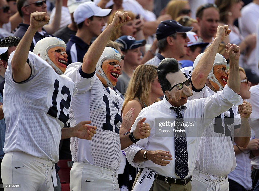 Penn State fans cheer during the Outback Bowl against Florida in Tampa, Florida, Saturday, January 1, 2010. Florida defeated Penn State, 37-24.