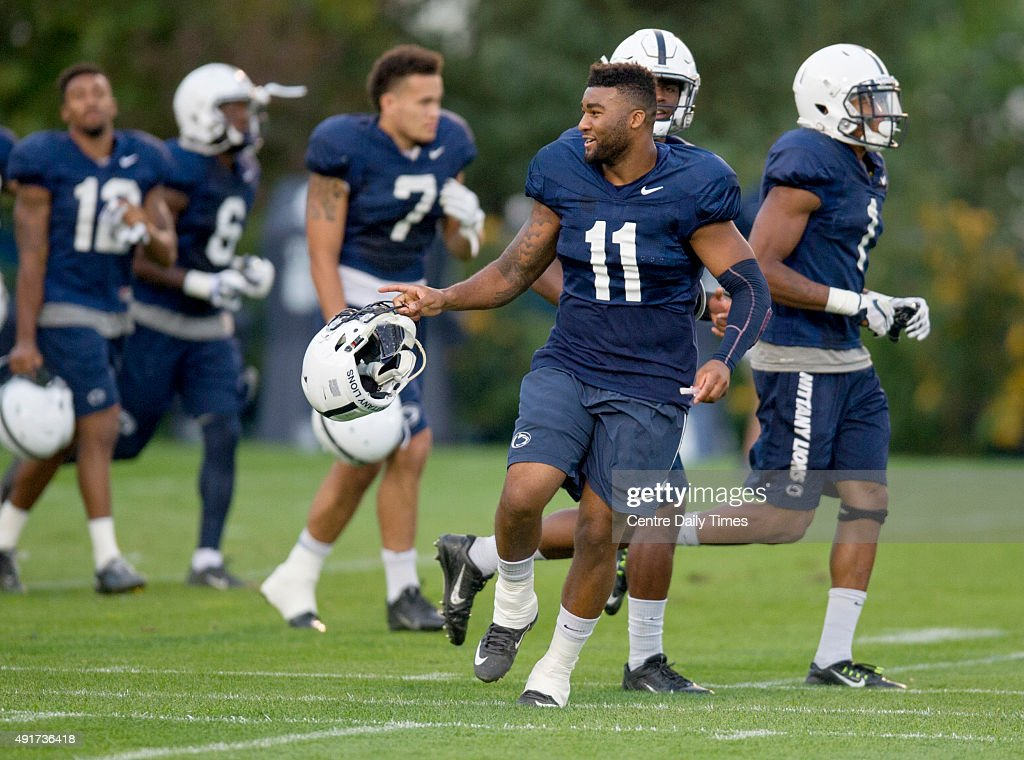 Penn State football practice : News Photo