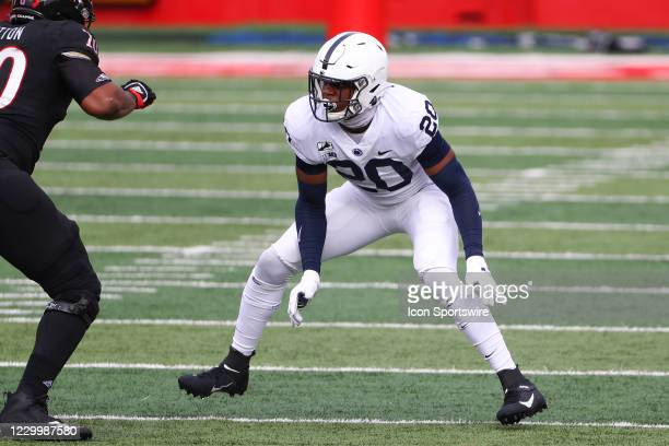 Penn State Nittany Lions defensive end Adisa Isaac during the college football game between the Rutgers Scarlet Knights and the Penn State Nittany...