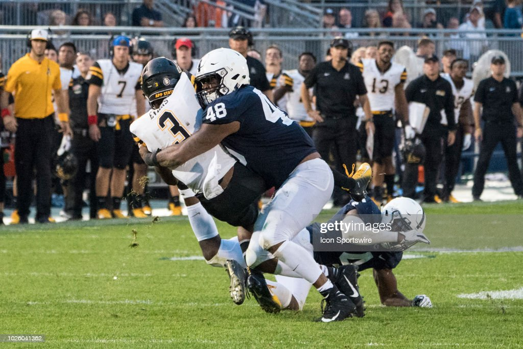 COLLEGE FOOTBALL: SEP 01 Appalachian State at Penn State : News Photo
