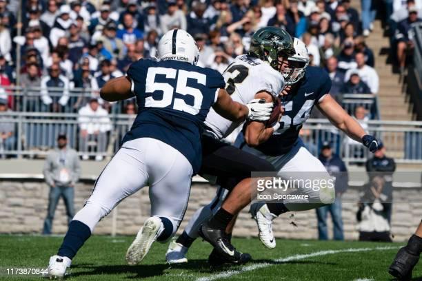 Penn State Nittany Lions Defensive Tackle Antonio Shelton and Penn State Nittany Lions Defensive Tackle Robert Windsor sack Purdue Boilermakers...