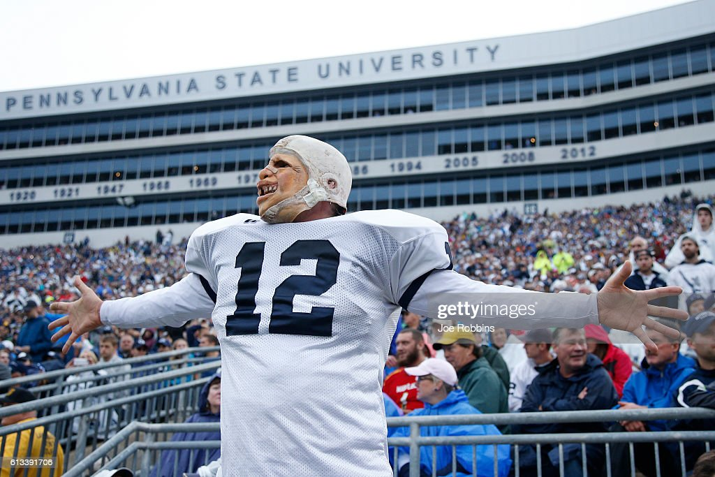 Penn State Nittany Lions fan reacts during the game against the Maryland Terrapins at Beaver Stadium on October 8, 2016 in State College, Pennsylvania. Penn State defeated Maryland 38-14.