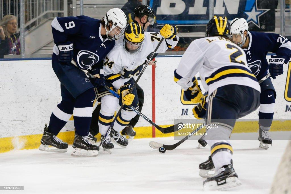 COLLEGE HOCKEY: JAN 19 Penn State at Michigan : News Photo