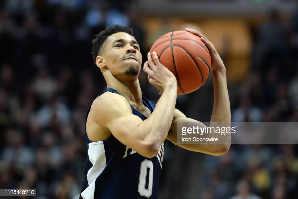 Penn State Nittany Lions guard Myreon Jones shoots a free throw during the Big Ten Conference college basketball game between the Penn State Nittany...