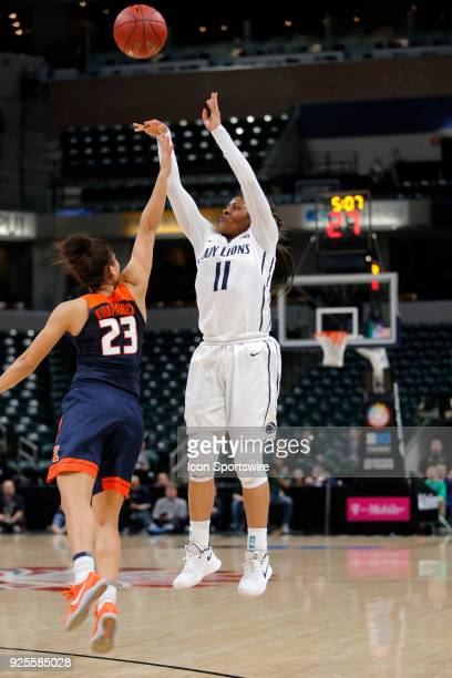 INDIANAPOLIS IN Penn State Nittany Lions guard Teniya Page is fouled by Illinois Fighting Illini junior Jaelyne Kirkpatrick during the game between...