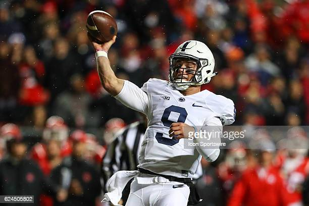 Penn State Nittany Lions quarterback Trace McSorley during the third quarter of the NCAA football game between the Rutgers Scarlet Knights and the...
