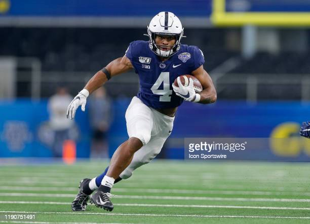 Penn State Nittany Lions running back Journey Brown rushes during the Cotton Bowl Classic between the Memphis Tigers and Penn State Nittany Lions on...