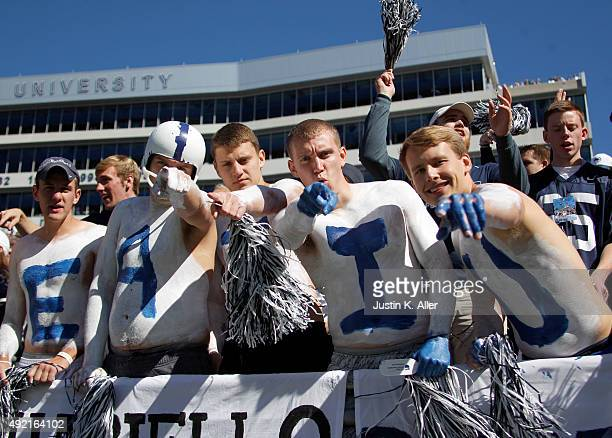 Penn State Nittany Lions students during the game against the Indiana Hoosiers on October 10 2015 at Beaver Stadium in State College Pennsylvania
