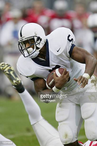 Penn State Tailback Larry Johnson rushes against Ohio State on October 26 2002 at Ohio Stadium in Columbus Ohio
