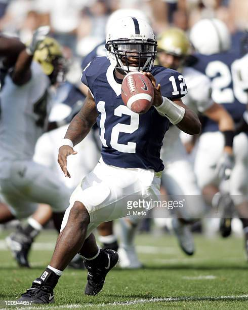 Penn State's quarterback Michael Robinson looks to make a play against South Florida at Beaver Stadium in State College Pennsylvania on Sept 3 2005...