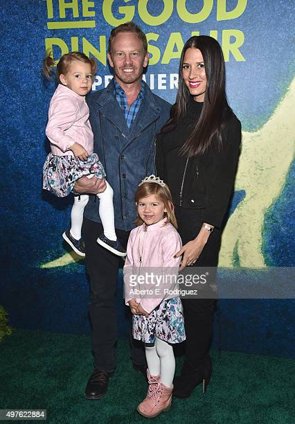 Penna Mae actor Ian Ziering Erin Ziering and Mia Loren attend the World Premiere Of DisneyPixar's THE GOOD DINOSAUR at the El Capitan Theatre on...