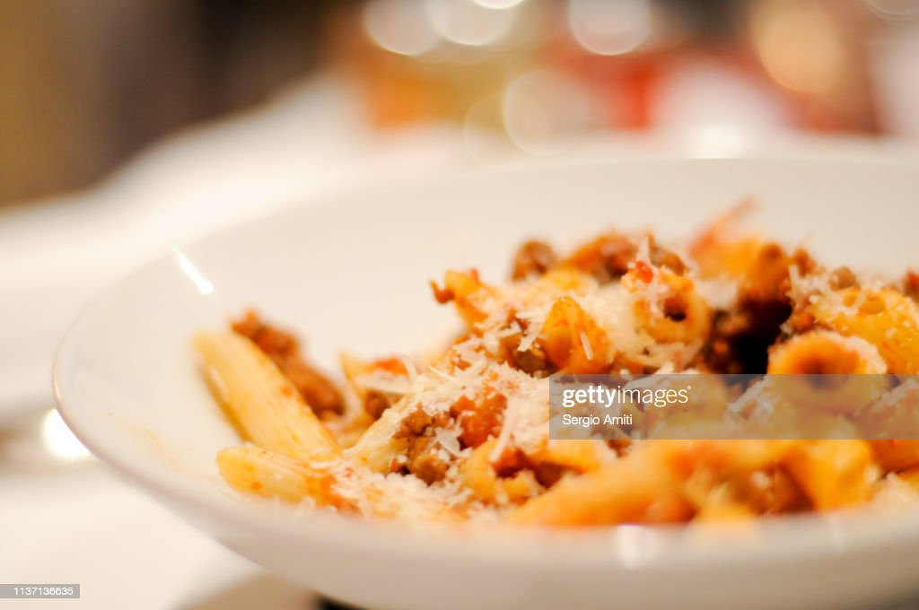 Penne bolognese : Stock Photo